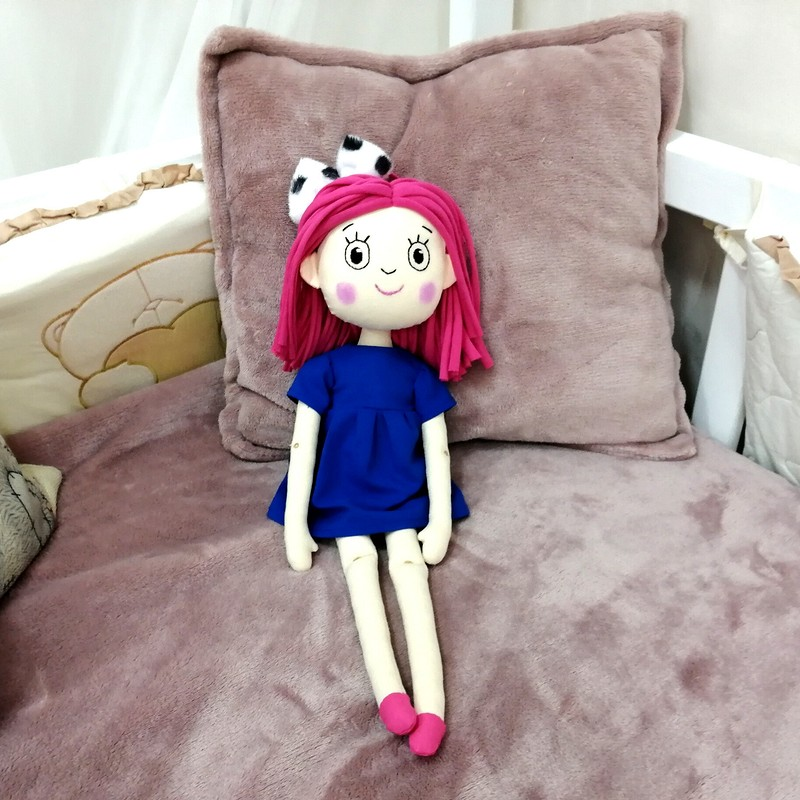 Текстильная кукла Смарта от @roxydolls
