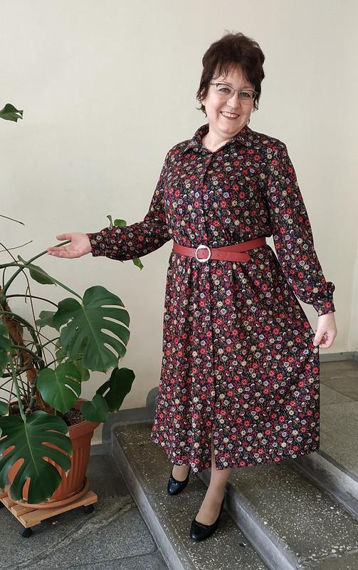 Платье рубашечного типа накнопках от STI