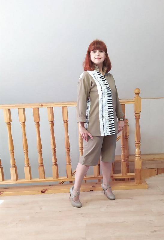Брючные костюмы «Музыкальный фемили лук» от Елена Мамонтова