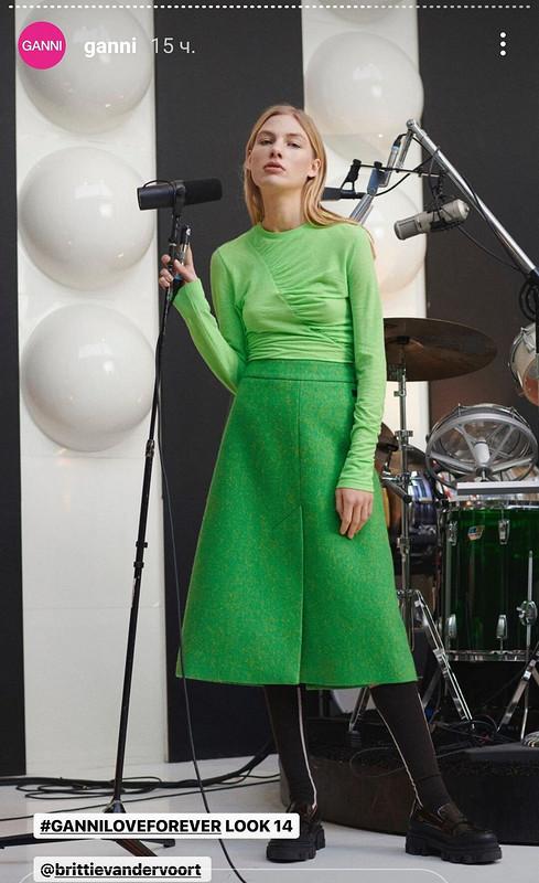 Кожаная юбка «Привет Courrèges» от chulpanim