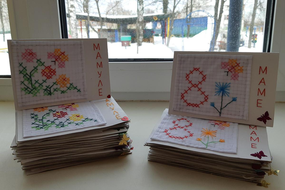 Вышитые открытки. Спраздником Весны! от OlgaLeto