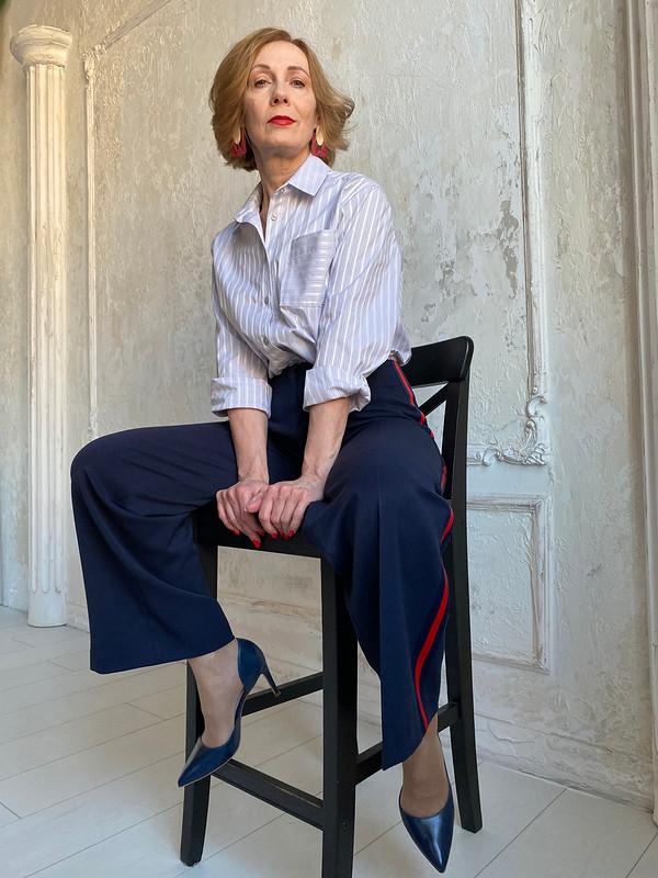 Широкие брюки слампасами от Азалия
