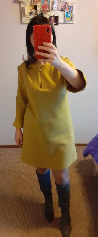 Платье горчичного цвета от Евгения