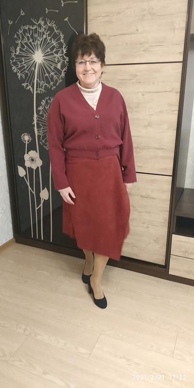 Ассиметричная юбка сдрапировкой иблузка своротником-стойкой от STI