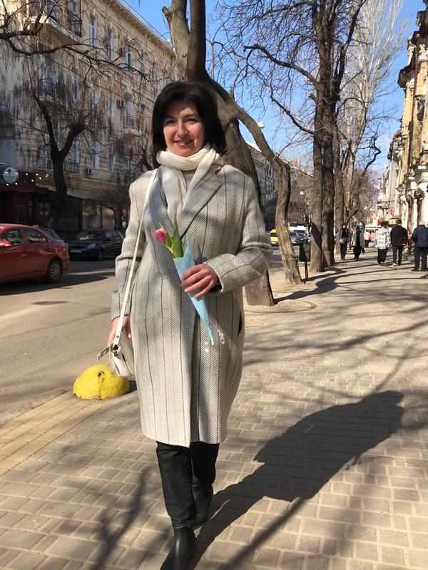 Весеннее пальто велочку иполосочку от Phiola