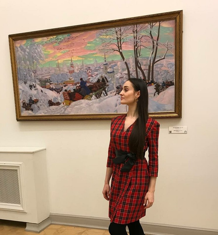 Платье вклеточку сзапахом от Olga_2021