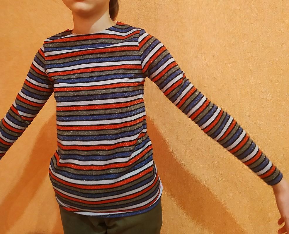 Очень узкая,  короткое плечо, пройма прям вподмышку, рукав очень узкий. Нерекомендую выкройку. от KLEANI