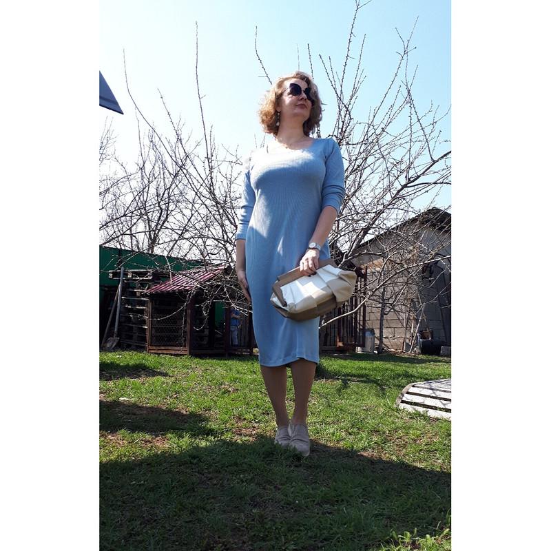 Небесно-голубое платье от TanyushkaPavlova
