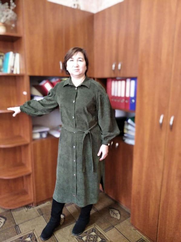 Вельветовое платье-рубашка от Шубина Наталья