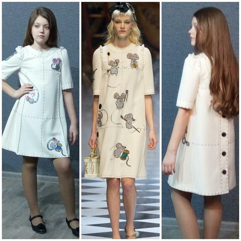 Платье «Мышки» от OKSANAZHELTOVA