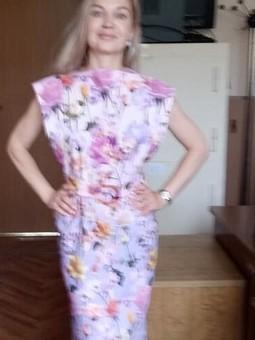 Работа с названием Платье «Розовые розы»