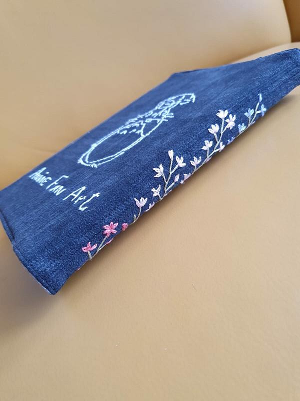 Обложка длякниги. Ткань - деним от Анжелика   Ильина
