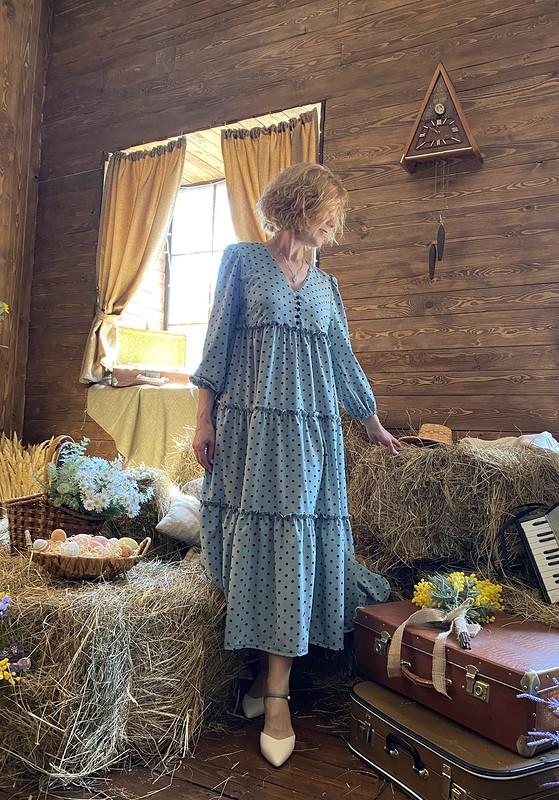 Романтичное платье макси от Азалия