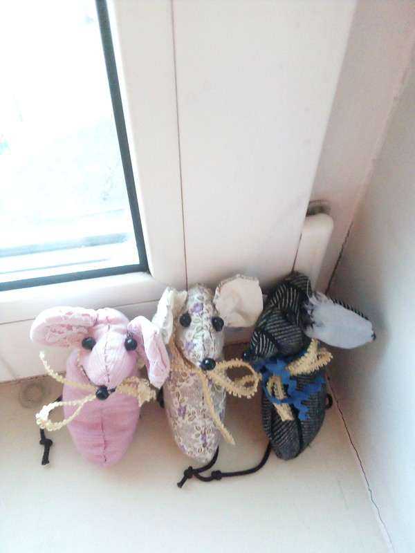 Мягкие игрушки-мышки от Маргарита Фаддеева