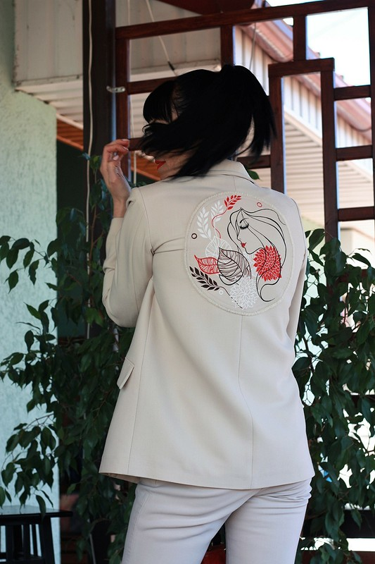 Брючный костюм, или Мой первый рисунок поткани от natalik75
