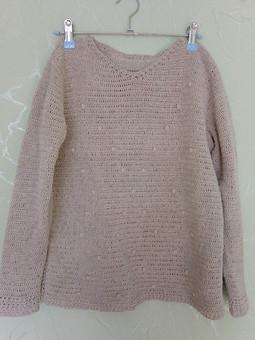 Работа с названием Пуловер  из льна
