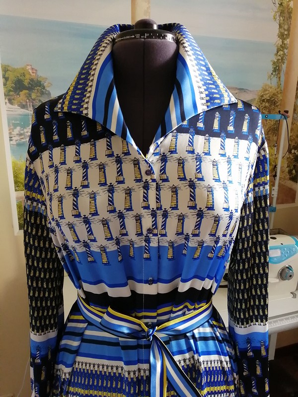 Платье-рубашка «Все наборт!!!» ⛵⛵⛵ от Sukharenko