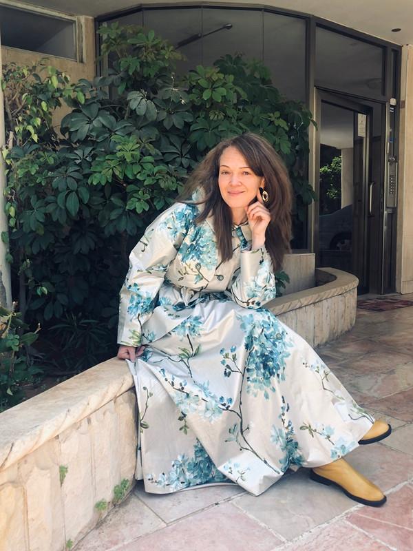 Платье-плащ Цветущая сакура от Myla