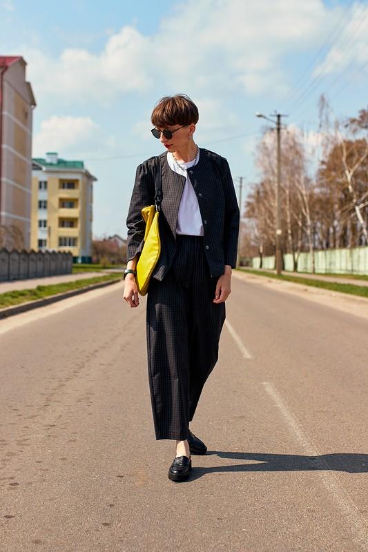 Жакет встиле Balenciaga ибрюки от AlexandraMashkevich