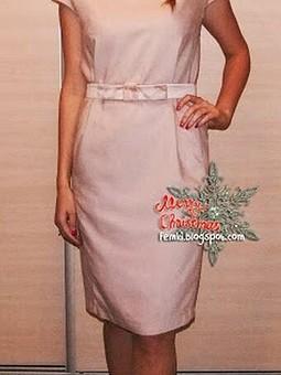 Работа с названием Платье классического кроя