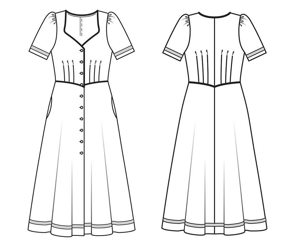 Летнее приталенное платье: новый онлайн-курс вАкадемии Burda