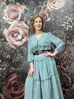 Работа с названием Романтичное платье макси