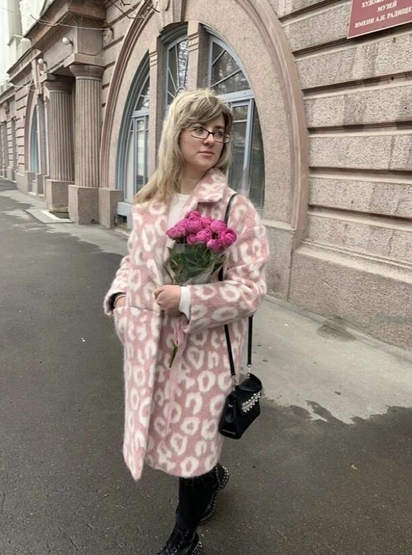 Пальто «розовый леопард» от JULIIA_CHE