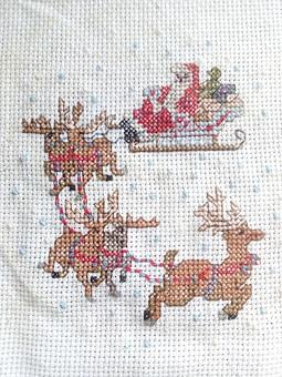 Работа с названием Вышивка Дед Мороз
