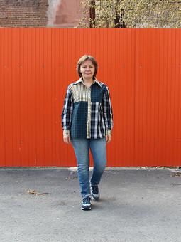 Работа с названием Рубашка по мотивам образа со Streetstyle