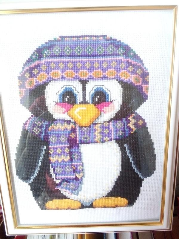 Вышивка Пингвин от Маргарита Фаддеева