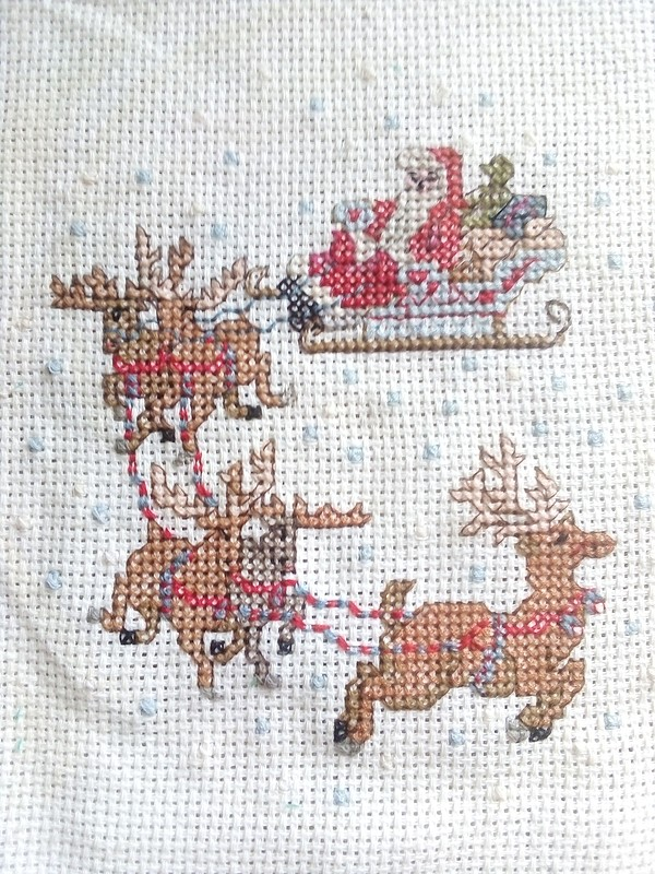 Вышивка Дед Мороз от Маргарита Фаддеева