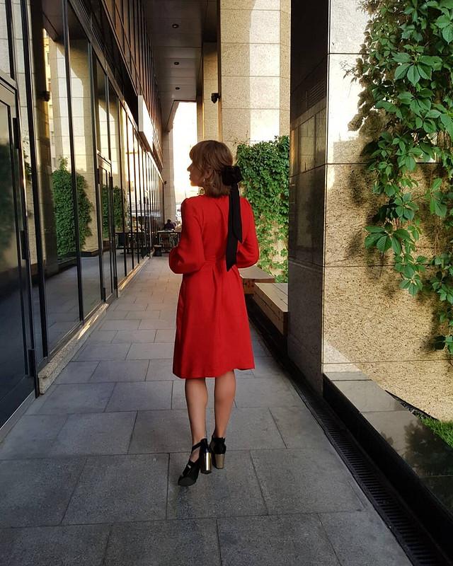 Платье сзапахом встиле 70-х №122 от Olly