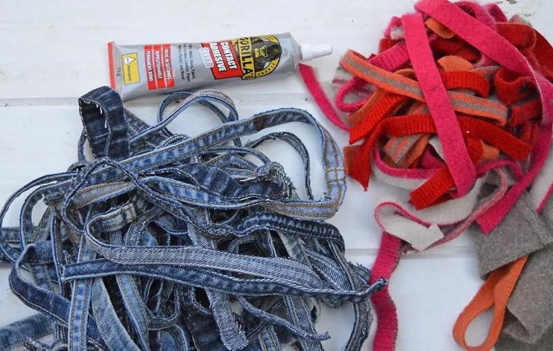 Идея: подставки подгорячее изстарых джинсов