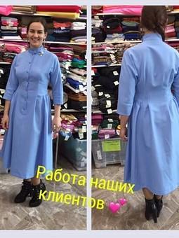 Работа с названием Романтичное платье из габардина