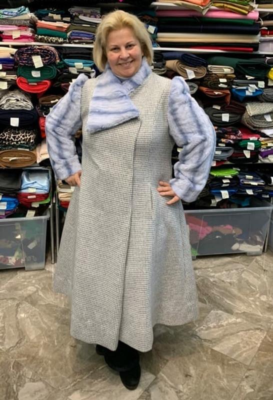Пальто сотделкой изискуственного меха от Екатерина Долженко