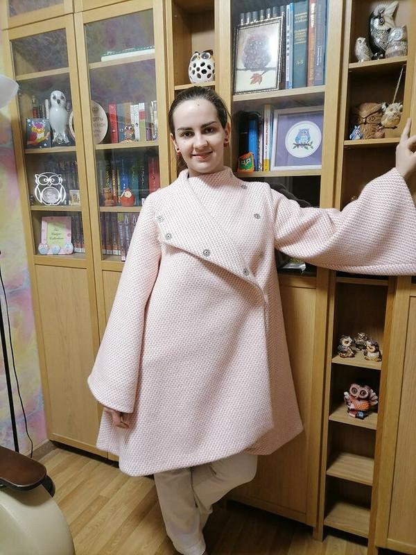 Пальто изткани снебольшим ворсом от Екатерина Долженко