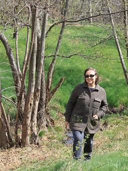 Работа с названием Лес весной в моем жакете