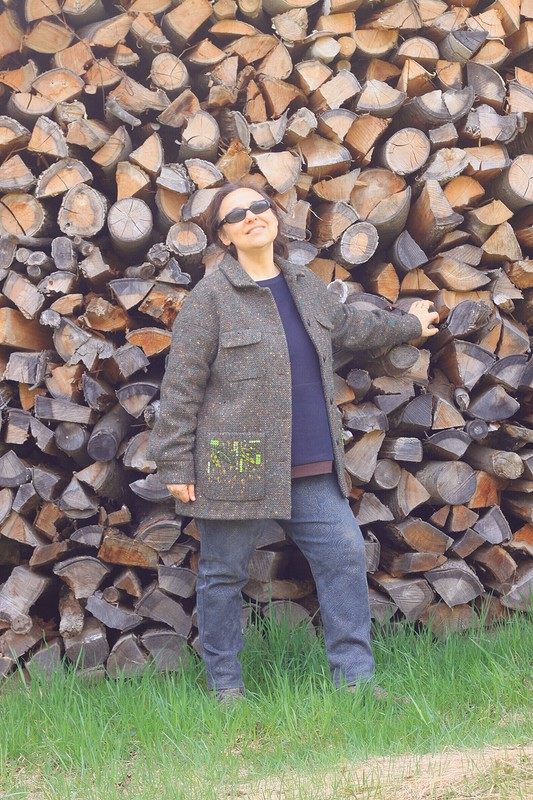Лес весной вмоем жакете от helenkova