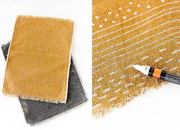 Идея: подушка изсалфеток сручной росписью маркерами