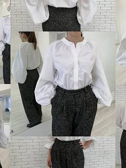 Работа с названием Просто блузка, просто белая!)