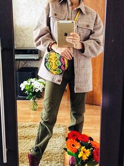 Работа с названием Куртка-рубашка Латте Макиато