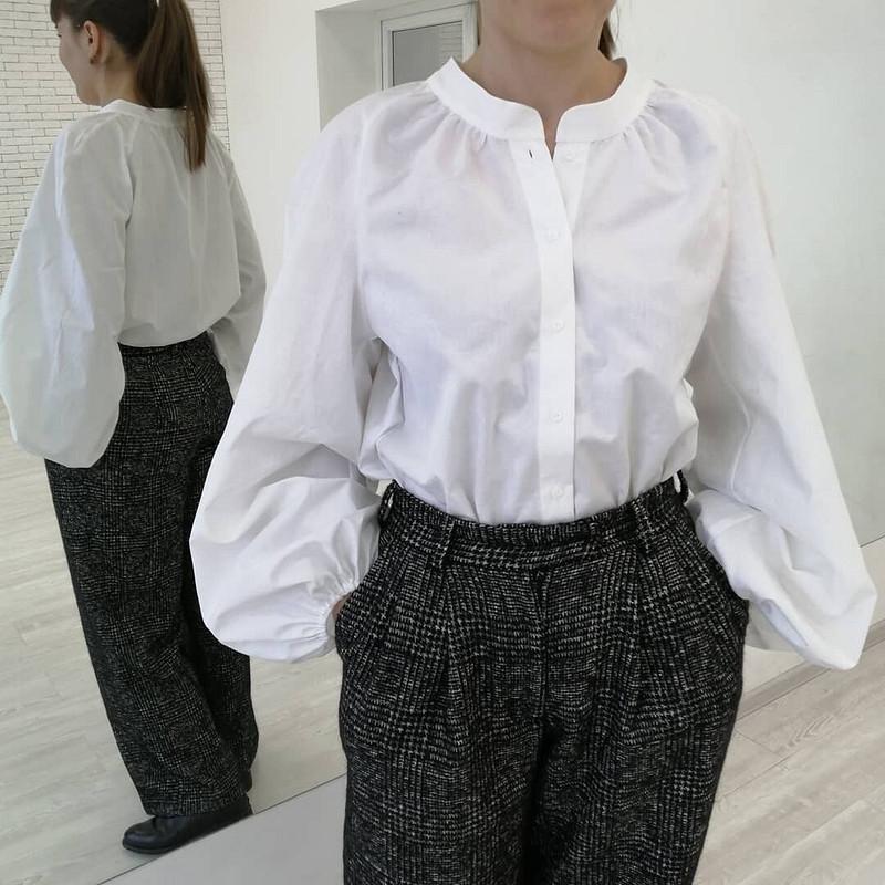 Просто блузка, просто белая!) от Sukharenko