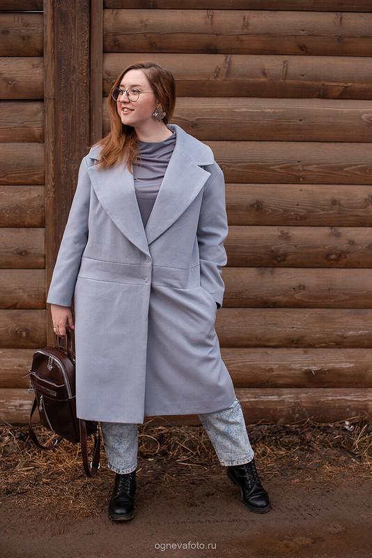 Пальто Н-силуэта от Ксения Огнева