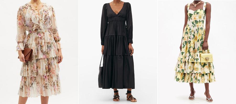 Выкройка месяца: платье макси вдухе 70-х