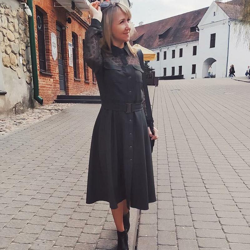Платье цвета хакки от seilito