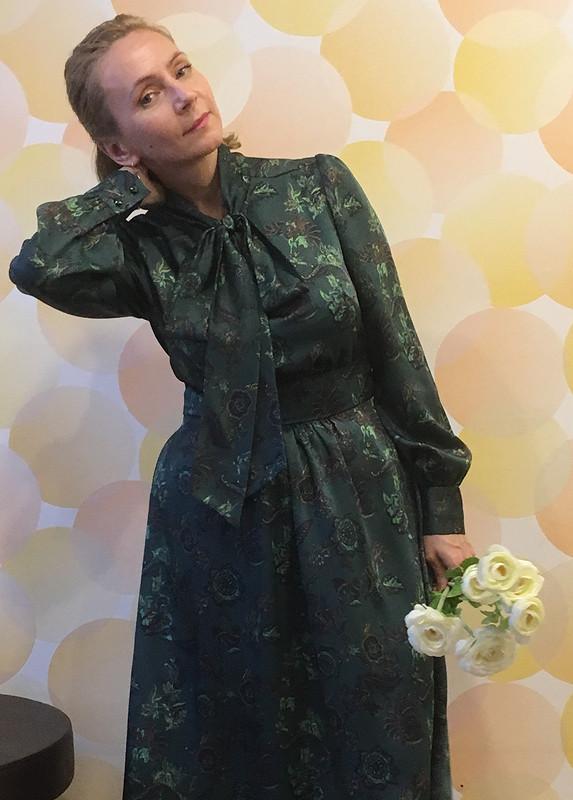 Шёлковое платье сбантом от SvetlanaNaumova