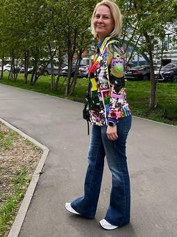 Работа с названием Батник. Рубашка в стиле 70-х