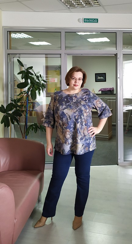 Три блузы поодной выкройке от Julsom
