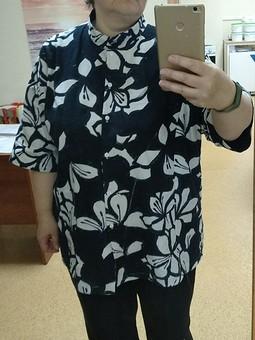 Работа с названием Из платья в рубашку - ресайклинг