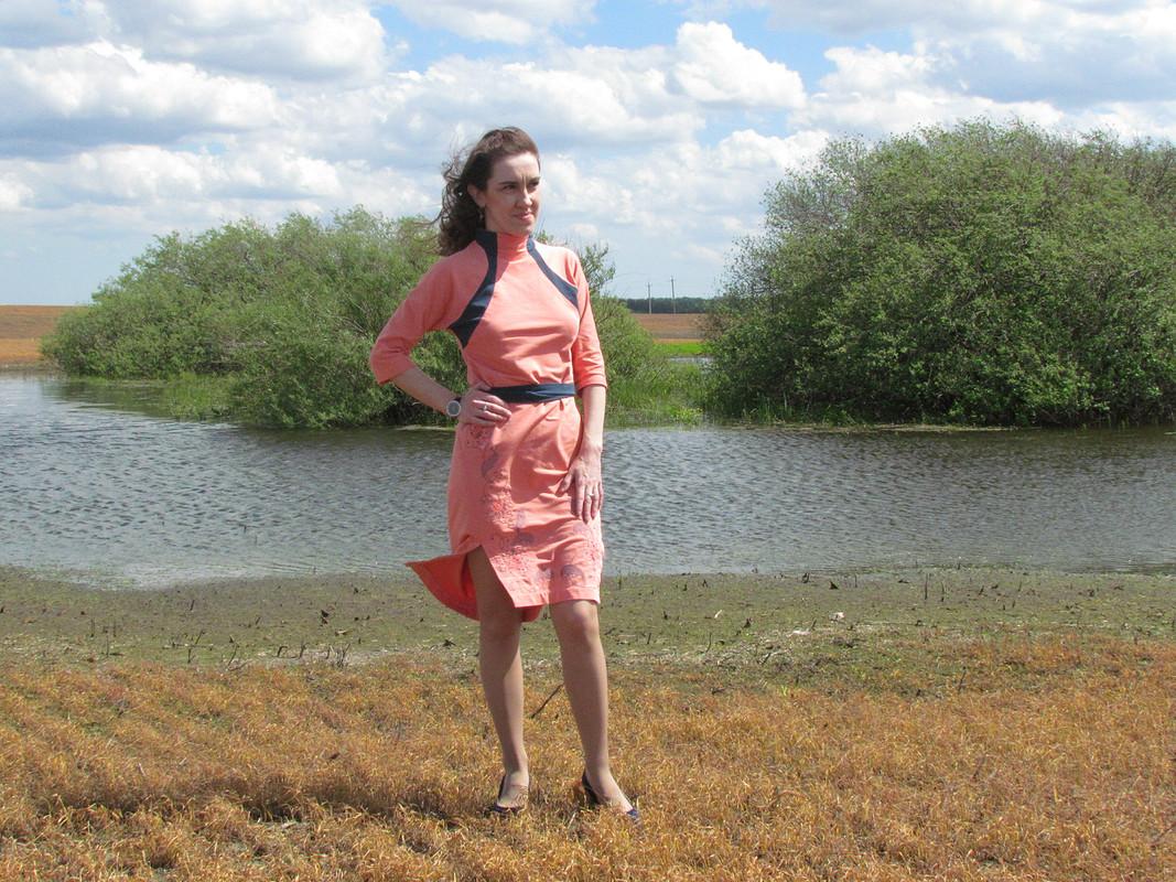 Платье двухцветное свышивкой от Sunflower-83